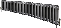 Eastgate Victoriana 3 Column 38 Section Cast Iron Radiator 450mm High x 2322mm Wide - Metallic Finish
